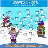 Snowball Fight SmartBoard Attendance
