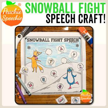 Snowball Fight Speech Craft! {No-Prep}