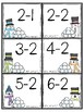 Snowball Fight Subtraction Facts Partner Game