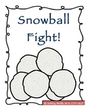 Snowball Fight! Winter Game Focusing on Antonyms, Synonyms