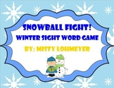 Snowball Fight! Winter Sight Word Game