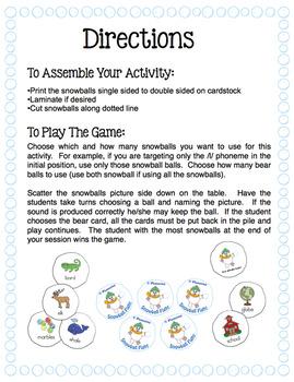 Articulation - /l/ Phoneme Snowball Fight