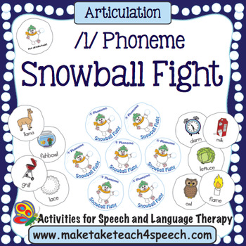 Articulation - /l/ Phoneme Snowball Fight