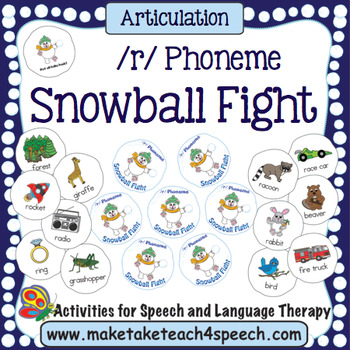Articulation -  /r/ Phoneme Snowball Fight