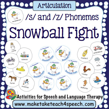 Articulation /s/ and /z/ Phonemes - Snowball Fight