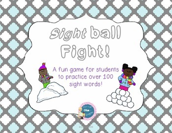 Snowball Fight [sight word games]