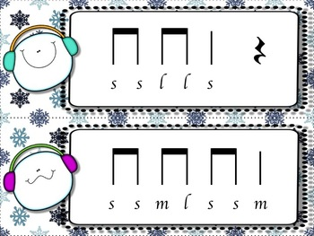 Snowball Flurry!  A Collection of Melodic Games for Practicing la