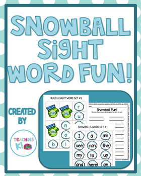 Snowball Fun Sight Word Activities