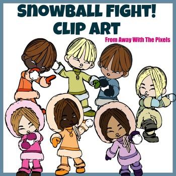 Snowball Kids Clip Art for Teachers