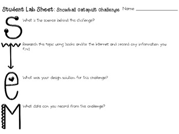 Snowball Catapult: Engineering Challenge Project ~ Great STEM Activity!
