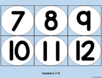 Snowball Letter and Number Cards Freebie
