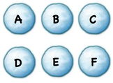 Snowball Letters Upper case and Lowercase
