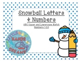 Snowball Letters and Numbers
