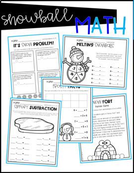 Winter Math Activities: Snowball Math