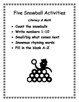 Snowball Math & Literacy Activities