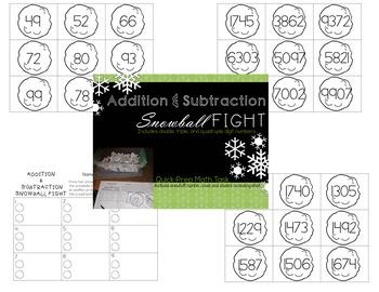 Snowball Math Task Bundle