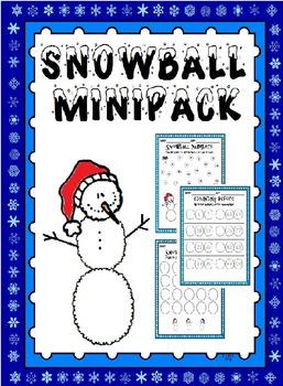Snowball Mini Math Packet