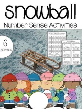 Snowball Number Sense Activities - Winter Math Activities