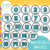 Snowball Number Tiles Clip Art {MOVEABLE IMAGES}