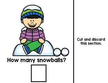 Snowball Numbers Book (interactive book)