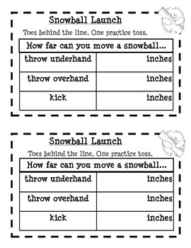 Snowball Olympic Math Stations