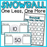 Snowball One Less, One More | Counting & Cardinality Math Center