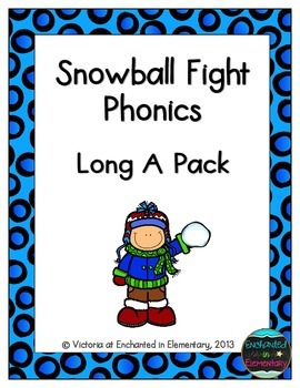 Snowball Fight Phonics: Long A Pack