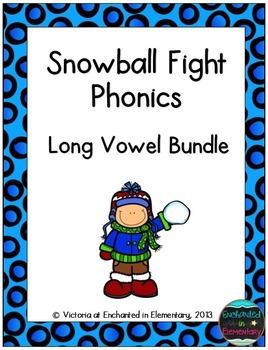 Snowball Fight Phonics: Long Vowel Bundle