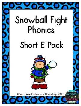 Snowball Fight Phonics: Short E Pack