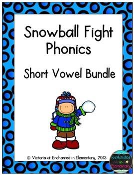 Snowball Fight Phonics: Short Vowel Bundle