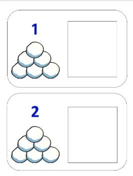 Snowball Play Doh Counting Mats