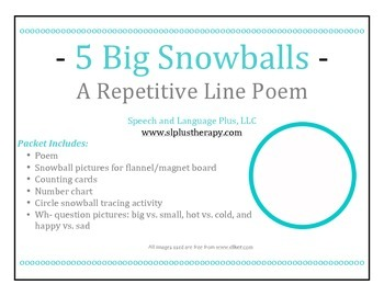 Snowball Repetitive Line Poem