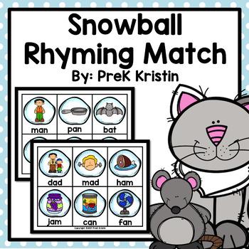 Snowball (Winter) Rhyming Match Game