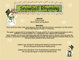 Snowball Rhyming & Word Family Game