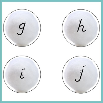Snowball Sand Tray Letters | D'Nealian Letter Formation Cards