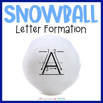 Snowball Sand Tray Letters | Print Letter Formation Cards