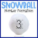 Snowball Sand Tray Numbers   1-20 Number Formation Cards
