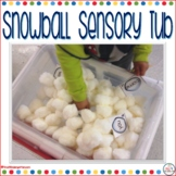 Snowball Sensory Table with Sight Words