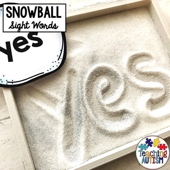 Snowball Sight Word Spelling Prompts