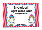 Snowball Sight Word Race