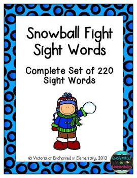 Snowball Fight Sight Words! Complete Set of 220 Sight Words