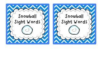 Snowball Sight Words {Freebie!}