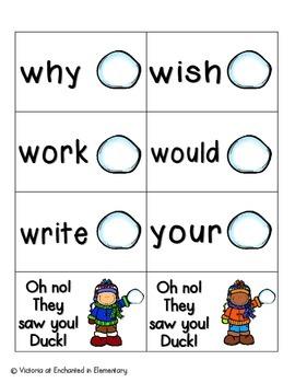 Snowball Fight Sight Words! Second Grade List Pack