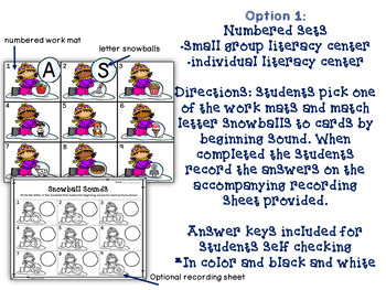 Snowball Sounds Literacy Activity