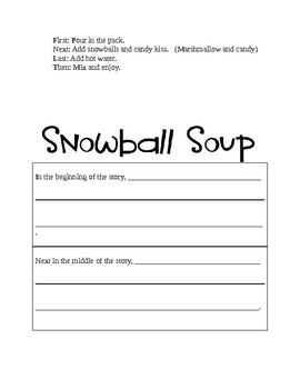 Snowball Soup Literacy Pack