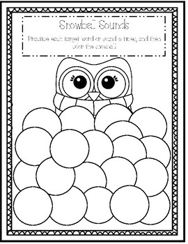 Snowball Speech and Language Worksheets (NO PREP)
