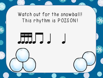 Snowball Splat-A Poison Rhythm Game for Sixteenth Notes