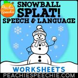 Snowball Splat: No Prep Winter Speech and Language Activities
