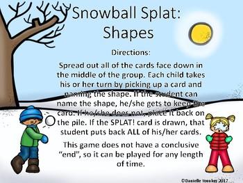Snowball Splat: Shapes
