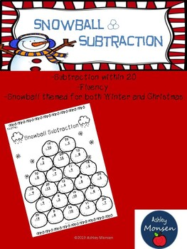 Snowball Subtraction: Fluency within 20
